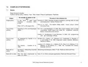 harvard style referencing template bibliography writing harvard style of reference