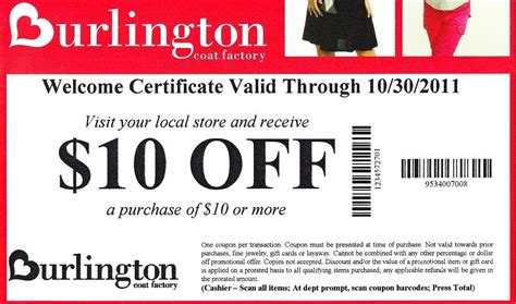 burlington coupons for