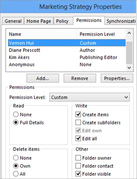 Calendar Reviewer Permissions Set Or Change Permissions For A Folder Outlook