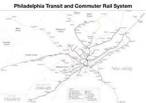Subway Map Philadelphia by Subway Philadelphia Metro Map United States