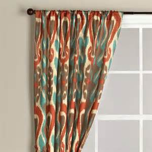 Turquoise Ikat Curtains Ikat Curtain Eclectic Curtains By Cost Plus World Market