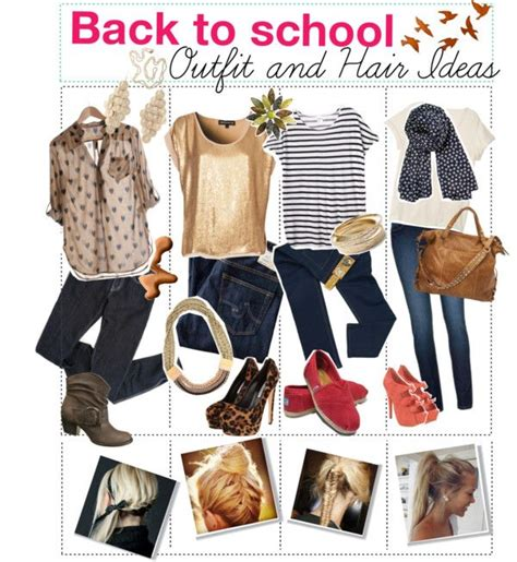 back to school hairstyles and outfits back to school outfit ideas fashion pinterest back