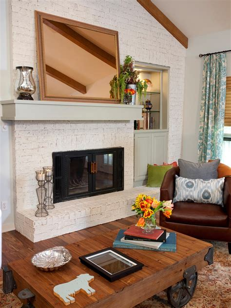 gorgeous painted brick fireplaces hgtvs decorating