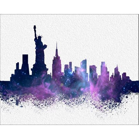 watercolor tattoo new york city new york watercolor print 8 x 10 new york city skyline