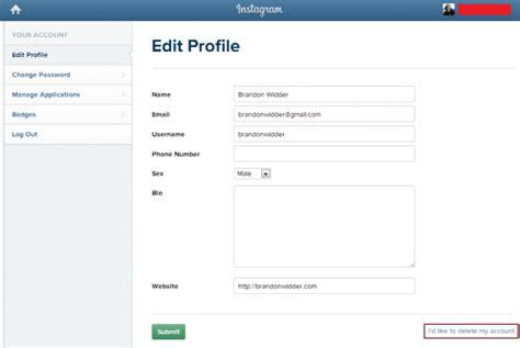 instagram tutorial usernames cara mudah menghapus akun instagram tutorial blogger
