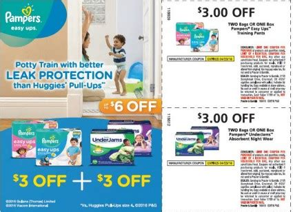 printable coupons pers easy ups pers diapers easy ups training pants printable