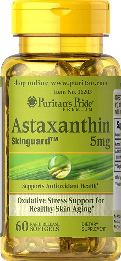 Puritan S Pride Astaxanthin 5 Mg 60 Softgels Puritan puritan s pride xtreme trim safflower complex liquid