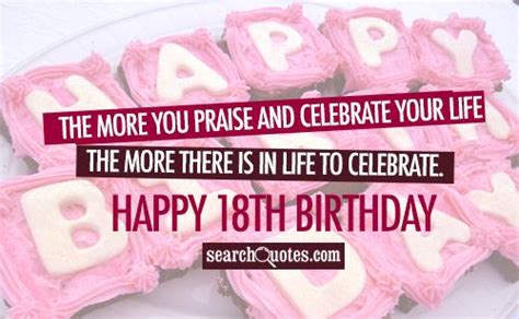 Happy 18 Birthday Quotes 18th Birthday Quotes For Women Quotesgram