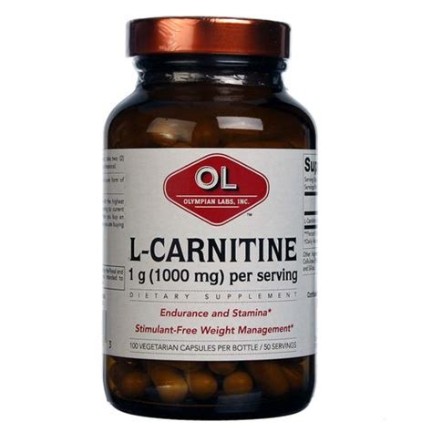 L Carnitine Detox by Olympian Labs L Carnitine 100 Vcapsules Evitamins