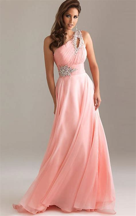 Formal Long One Shoulder Chiffon Evening Dress   Uniqistic.com