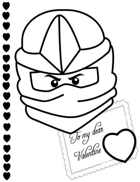lego valentine coloring page ninjago zx to my valentine coloring page h m coloring