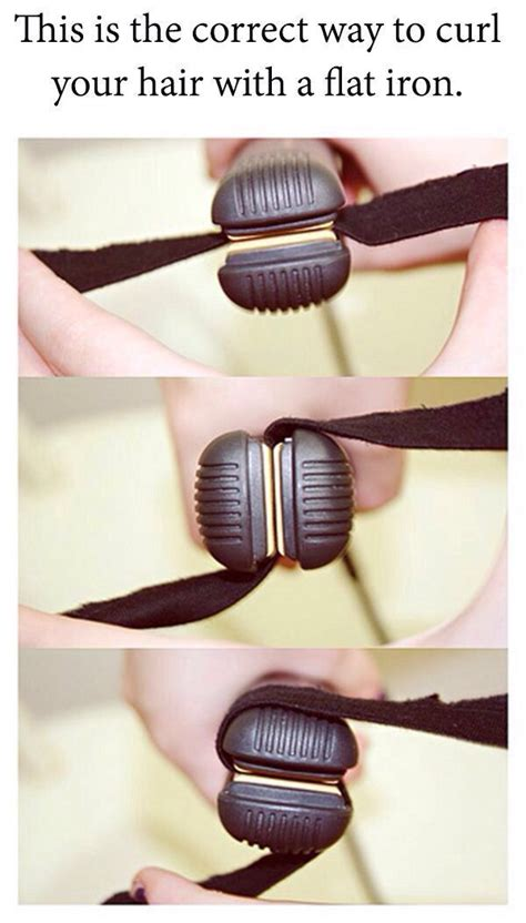 how to curl your hair with flat iron review catok amara how to curl with flat iron hair makeup pinterest