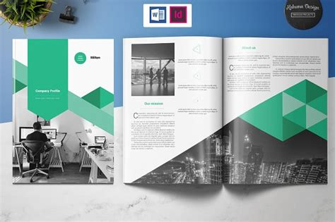 microsoft office company profile template image
