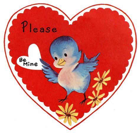 valentines vintage retro image lil bluebird the graphics