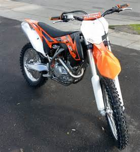 Picture of a new ktm dirt bike