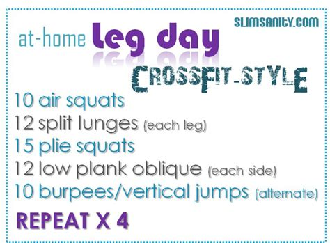 crossfit leg workout crossfit wod