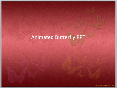 Butterfly Animation Ppt Red Color Background By Enrila On Deviantart Moving Butterfly For Powerpoint