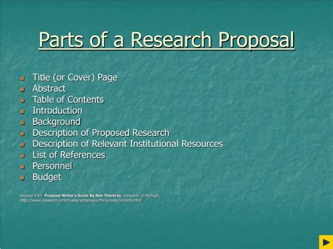 what are the different parts of a research paper ppt writing proposals powerpoint presentation id 69739