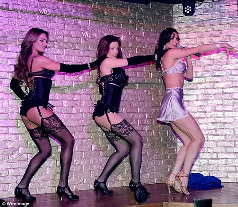 performs burlesque show for opening of