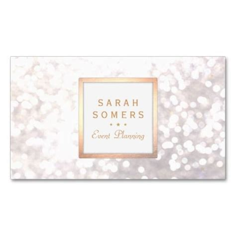 Whimsical Business Card Templates by Whimsical White Glitter Bokeh Gold Frame Business