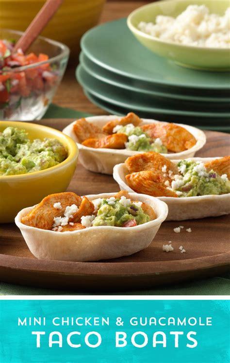taco boats recipe chicken mini chicken and guacamole ten minute taco boats recipe