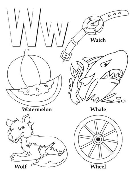 letter w coloring pages preschool my a to z coloring book letter w coloring page download