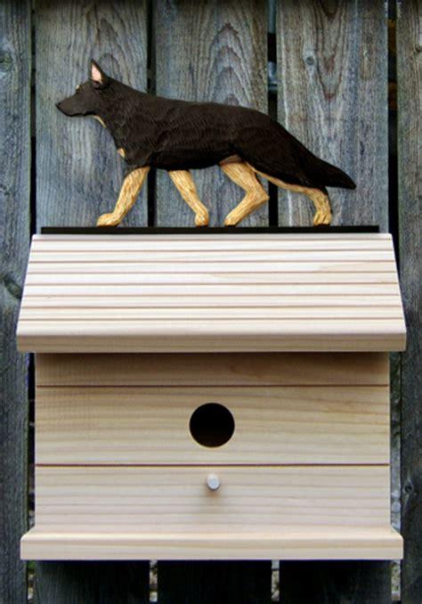 german shepherd dog houses german shepherd hand painted dog bird house black w tan points