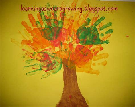 handprint tree craft learning as we grow september 2010