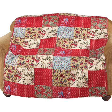 Patchwork Quilted Throw - maywood floral patchwork quilted throw by collections etc