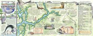 the souvenir map guide of homosassa fl