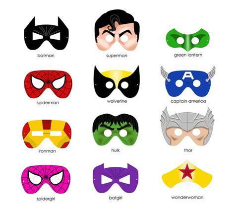 printable super heroes mask superhero party ideas