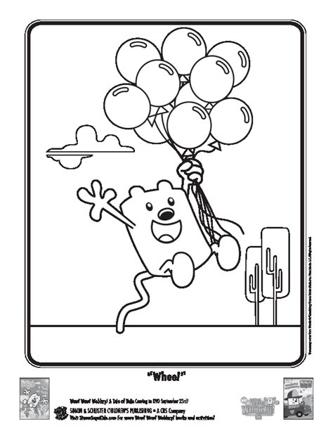 wow wow wubbzy coloring pages coloring home
