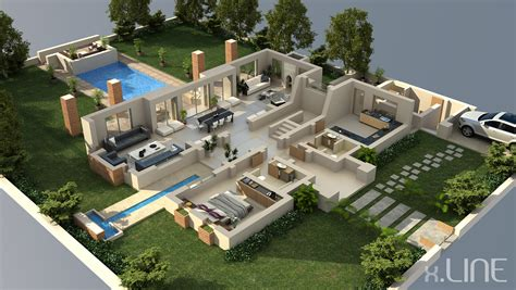 home design 3d jardin luxury house 3d house plans floor plans pinterest