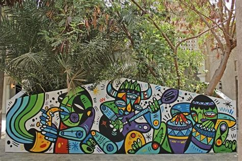graffiti wallpaper dubai streetartnews ruben sanchez new murals in al bastakiya