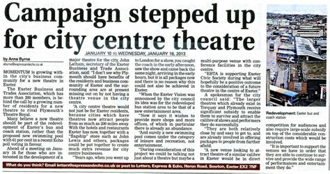 A News Paper - newspaper articles exeter civic society exeter civic society