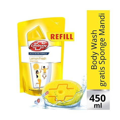 Sabun Lifebuoy Cair 450 Ml jual lifebuoy lemon fresh refill sabun cair 450ml free