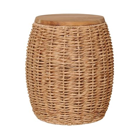 Outdoor Garden Stool by Outdoor Garden Drum Wood Water Hyacinth Stool Table