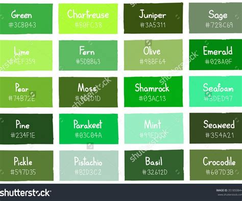 shades of green color chart dazzling living paint ideas together with green color