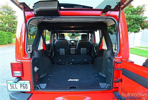 cargo space in jeep wrangler unlimited 2016 jeep wrangler unlimited review test drive