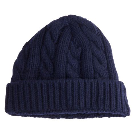 cable knit beanie oliver spencer chunky cable knit beanie hat in navy