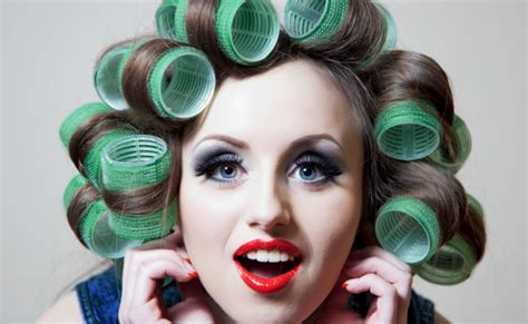 hair curlers rollers how to roll hair with small rollers for elderly