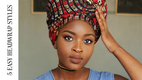 3 quick and easy head wrap styles for bad hair days 5 quick easy headwrap turban styles nosipho mhlanga