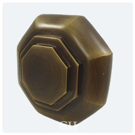 flat octagonal mortice door knobs in brass or bronze