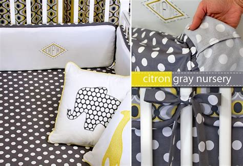 michael miller fabrics citron gray nursery fitted crib