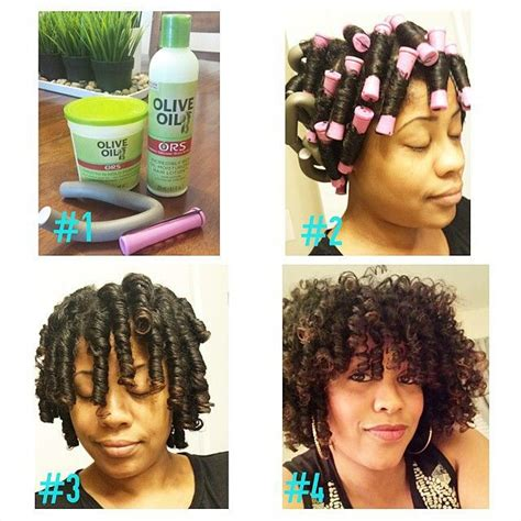 nautral hair om flex rods with braid instagram photo by protectivestyles protective natural