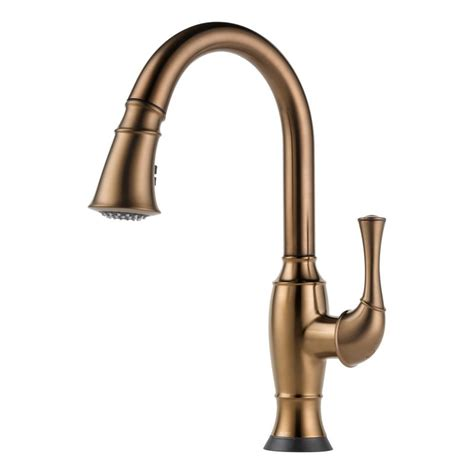 brushed bronze kitchen faucets faucet com 64003lf bz in brilliance brushed bronze by brizo