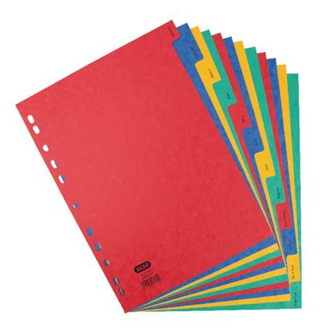 Elba Sorter Book A4 Tabs elba jan dec a4 pressboard divider 400007517