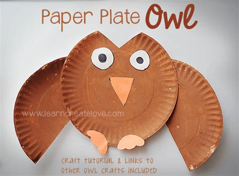 Paper Plate Owl Craft - paper plate owl craft