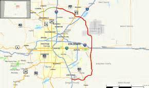 Colorado Toll Roads Map by E 470