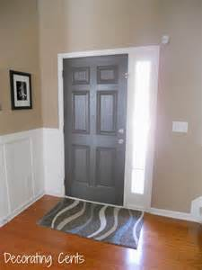 decorating cents gray front door